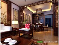 【宅速美设计】江滨医院单位房-126平米-中式风格