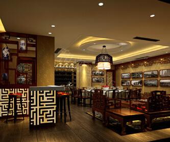中式饭店装修设计效果图