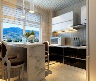 时尚、现代两居室101平...