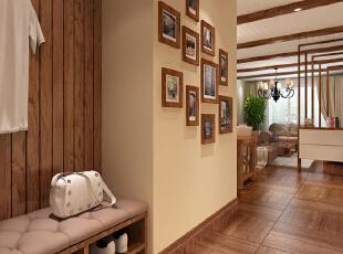 北京城建?红木林-小资两居-红木林淡雅舒适86平米东南亚两居