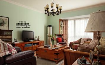 暗香——清新淡雅美式乡村三居室