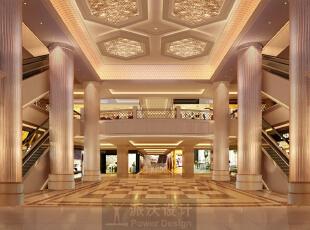 北门厅是略小于正门厅的入口,虽然没有正门厅的气势恢宏,但设计者在空间尺度的把握和不同图案和材料的运用和节奏上显得非常熟练。考虑了客人视觉上的变化,顶部四盏炫目的水晶顶灯,六根泛金的柱子加上棋盘式的地坪图案,也都成了入口空间的视觉焦点,整个空间的尺度协调统一。,170000平,1000000万,现代,公装,