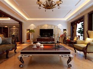 ,效果图,装修效果图,21万,欧式,156平,四居,客厅,