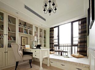 156平美式田园精品公寓榻榻米式书房 花园式阳台,实创装饰有5000平图片