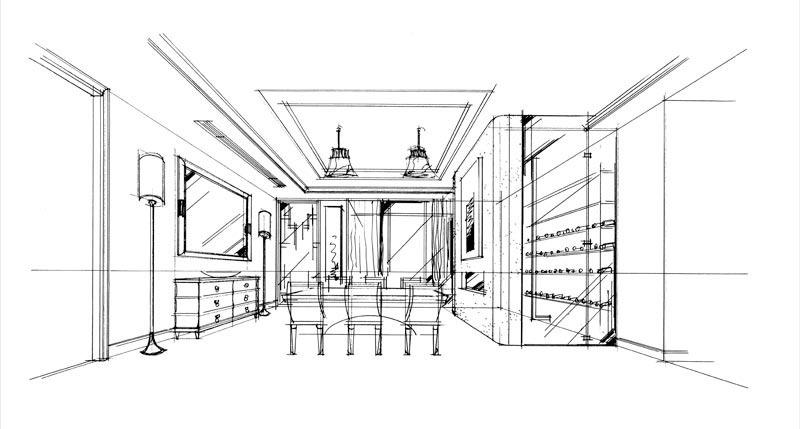 工程图 简笔画 平面图 手绘 线稿 800_429