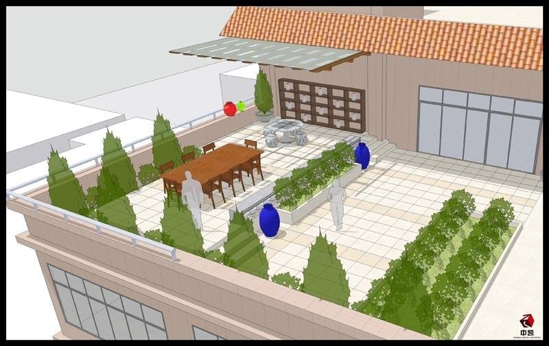 中凯设计——白云区东平徐总空中别墅设计:空中花园景观图片