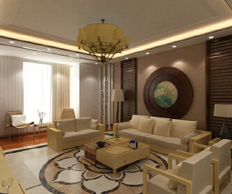 120平新中式四室两厅,...