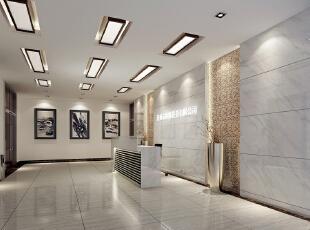 前台接待室,600平,100万,中式,公装,装修效果图图片