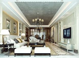 ,四居,客厅,欧式,180平,效果图,25万,