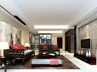,三居,客厅,中式,15.0万,135.0平,效果图,