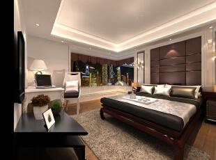 ,135.0平,卧室,现代,效果图,三居,12.0万,