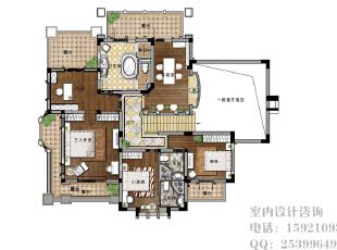 ,效果图,别墅,360.0平,10.0万,新古典,