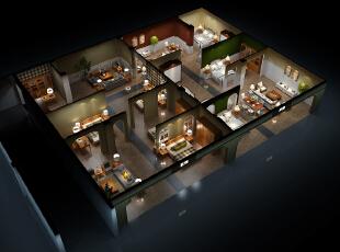河北某家具卖场,主营实木家具。,14万,320平,一居,效果图,美式,