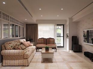 各个角度看装修布局,138平,18万,田园,三居,客厅,