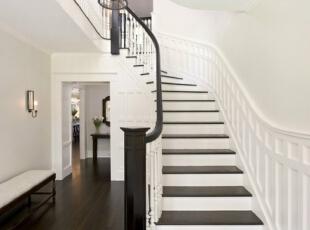 ,楼梯,玄关,现代,白色,