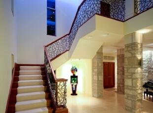 ,楼梯,玄关,中式,白色,