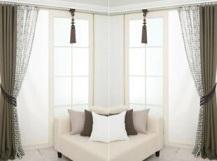 新中式窗帘装修效果图,精美窗帘打造中式之家图片