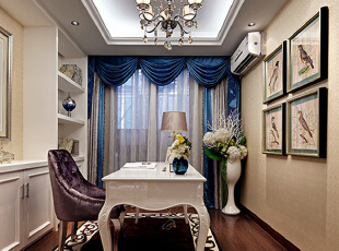 深圳海航城-新古典三居-深圳海航城E户型样板房设计