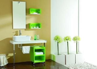 浴室柜的安装图片,精美的浴室柜装修效果图