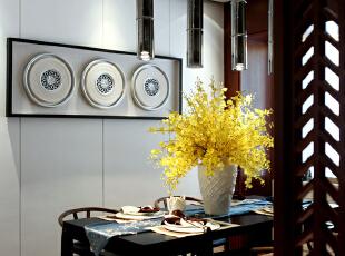 中洲央筑花园-中式三居-惠州央筑花园中式风格样板房设计