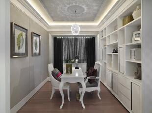 中洲央筑花园-欧式四居-中洲央筑花园简欧风格样板房室内设计