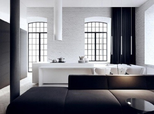 【鸿艺源设计分享】少即是多,经典黑白的空间美学