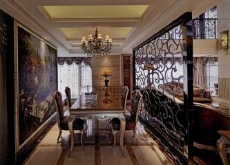 欧式餐厅家具如何选择,欧式餐厅装修效果图赏析