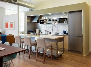 【鸿艺源设计分享】岛式厨房,让厨房也便携!