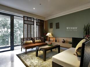 石家庄天下玉苑140平三居东南亚风格元洲装饰实景图