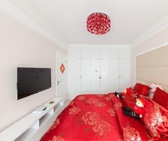 浪漫清新75平两居室婚房...