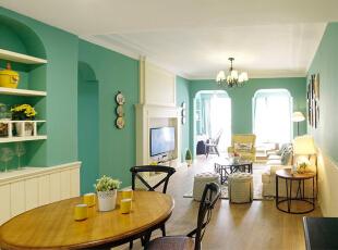 香悦四季(合景溪西里)-田园三居-整体家装装修亲近自然的家135平米
