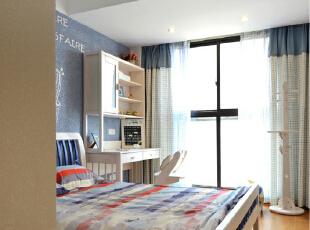 路劲世纪城-现代两居-7万打造89㎡惬意蓝色美居