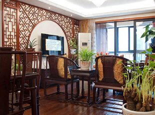 ,客厅,原木色,白色,中式,