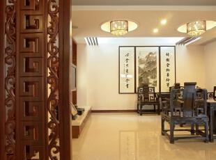 ,中式,客厅,