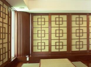 ,榻榻米,书房,原木色,日式,