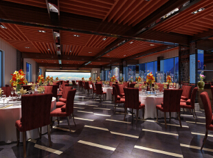 现代风格客家连锁饭店,280平,40万,现代,公装,小资,