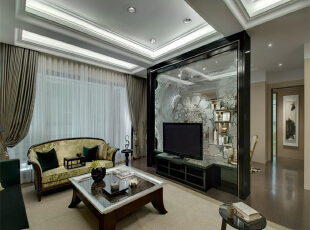,175平,22万,日式,四居,客厅,白色,