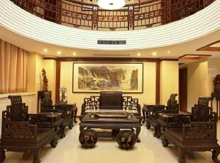 ,客厅,中式,原木色,