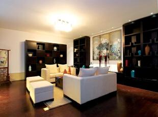 ,客厅,中式,白色,