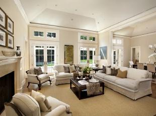 ,白色,客厅,