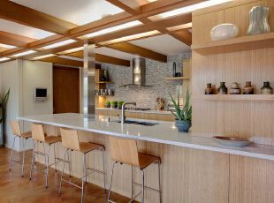 ,厨房,简约,原木色,