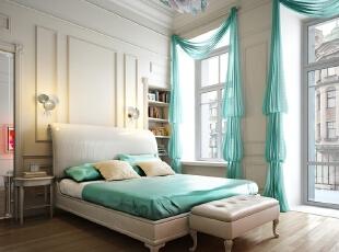 ,白色,小资,卧室,