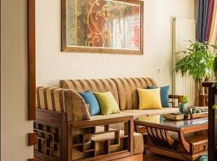 ,原木色,客厅,15.0万,110.0平,三居,混搭,