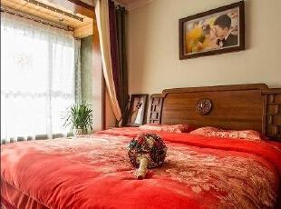 110平中式混搭婚房 三室两厅的异域风情