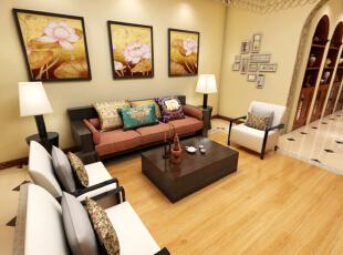 ,东南亚风格,实木家具,装修公司,超高性价比,别墅,大气装修,300平,45万,清新,效果图,