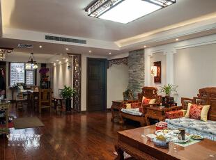 ,中式风格,原木色,石家庄元洲装饰,客厅,中式,