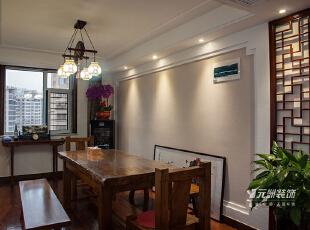 像到了小时候,简单的长条凳,简单的长桌子,围出简单的快乐。,中式,中式风格,餐厅,石家庄元洲装饰,原木色,