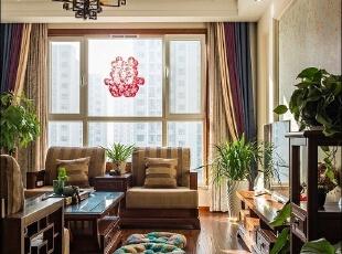 ,客厅,110平,15万,现代,原木色,三居,