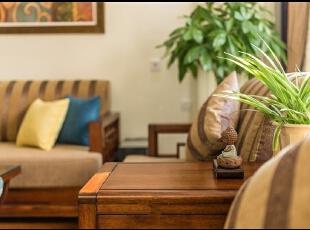 ,现代,客厅,原木色,15万,三居,110平,