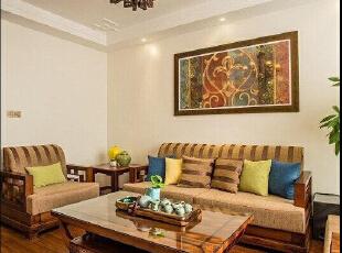 ,客厅,15万,110平,原木色,现代,三居,